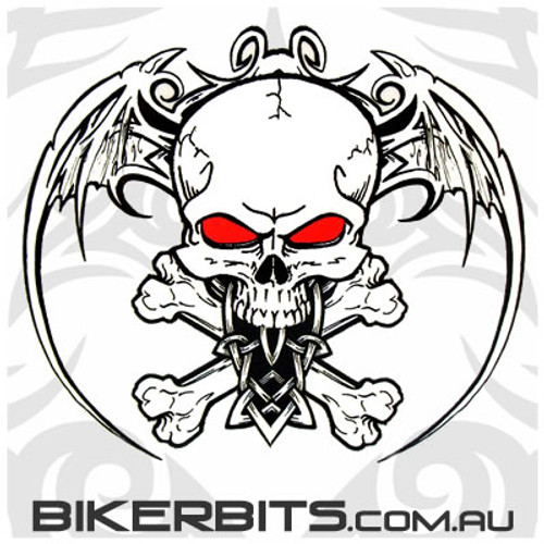 Biker Decal - Aftermath - Wingskull