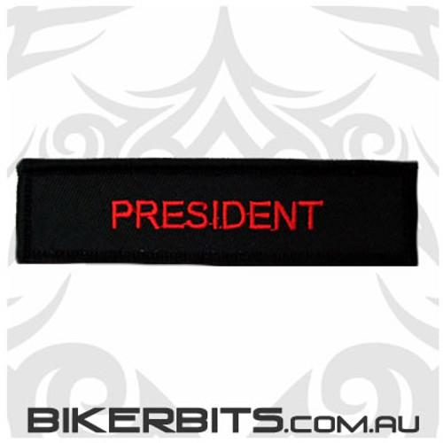 Patch - Biker Club PRESIDENT 2