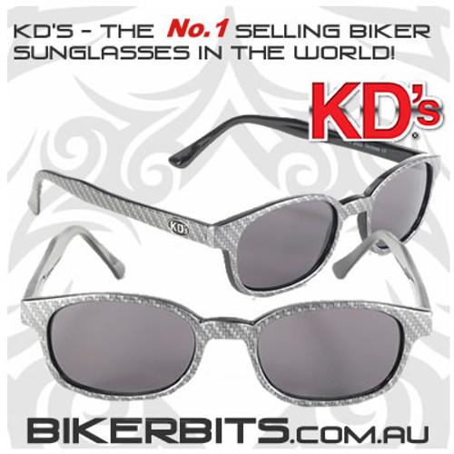 Motorcycle Sunglasses - KD's Carbon Fiber - Smoke