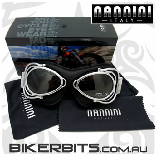 Motorcycle Goggles - Nannini - Streetfighter 6105 - Black/Clear