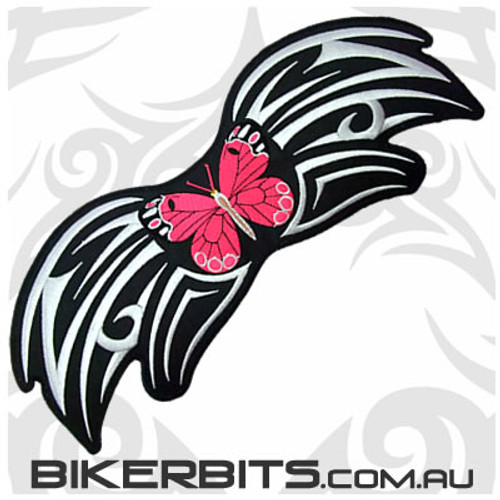 Patch - Pink Butterfly with Tribal Pattern