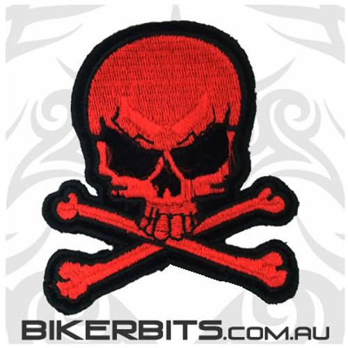 Patch - Red Skull & Crossbones