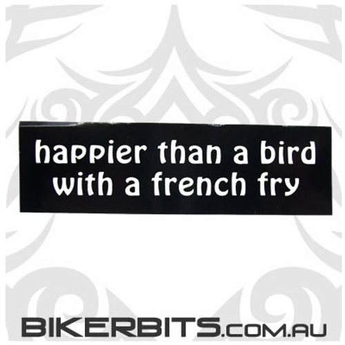 Helmet Sticker - Happier Than a Bird