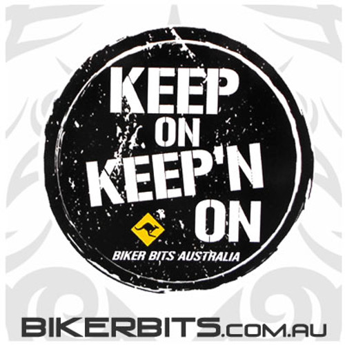 Biker Decal - Keep On Keep'n On
