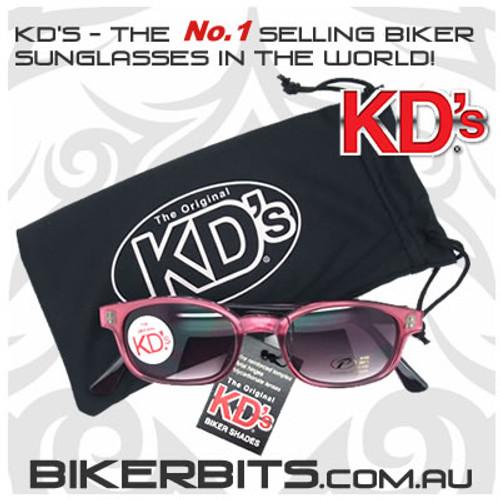 Motorcycle Sunglasses - KD's Purple Pearl- Grey Gradient
