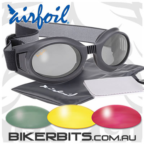 Motorcycle Sunglasses/Goggles - Airfoils - 7610 - 4 Lenses