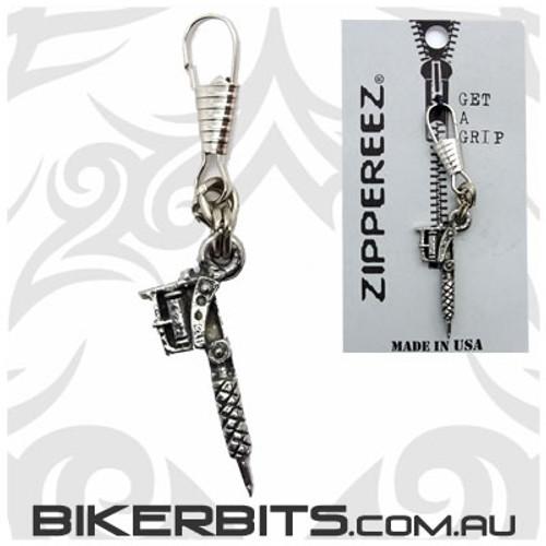 Zippereez Zipper Pull - Tattoo Gun