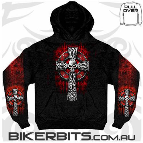 Biker Hoodie - Celtic Cross