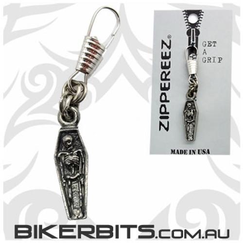 Zippereez Zipper Pull - Coffin with Skeleton
