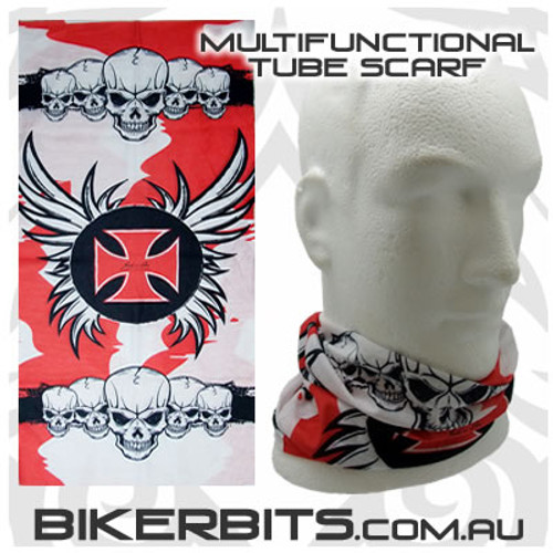 Headwear - Multifunctional Tube Scarf - Iron Cross With Wings
