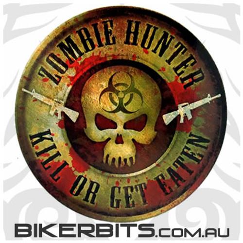 Biker Decal - Zombie Hunter