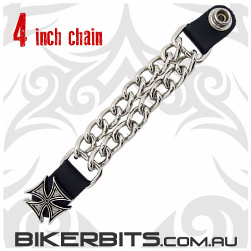 Vest Extender with Chains 4 inch - Iron Cross