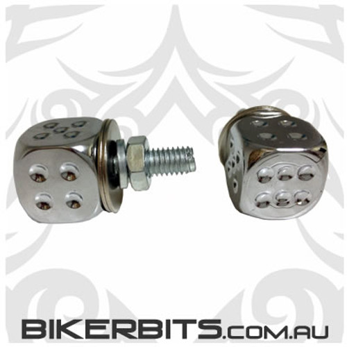 Number Plate Bolts - Dice