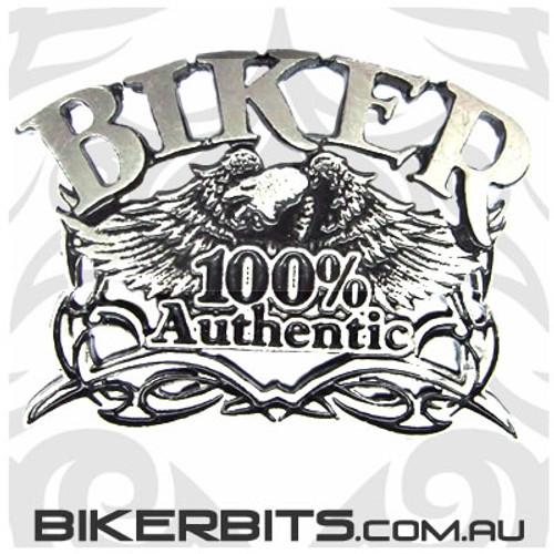 Lapel Pin - Biker 100% Authentic