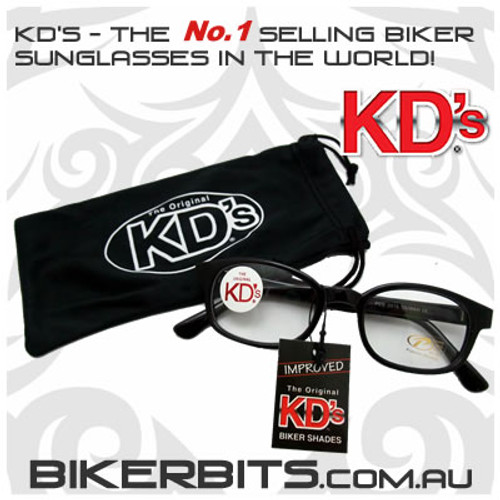 Motorcycle Sunglasses - KD's Black - Clear