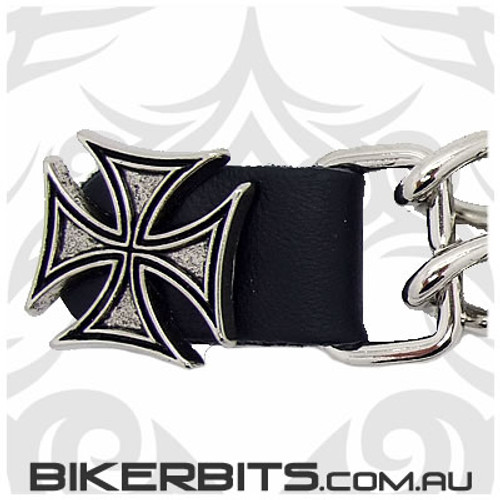 Vest Extender with Chains 6 inch - Iron Cross
