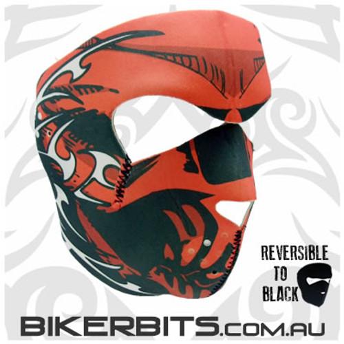 Headwear - Neoprene Full Face Mask - Red Skull