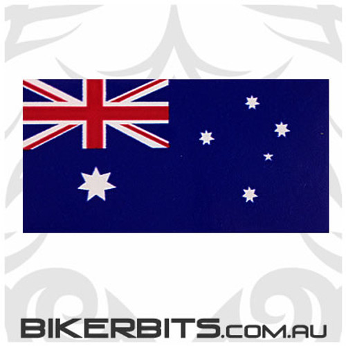 Biker Decal - Australian Flag - 80mm