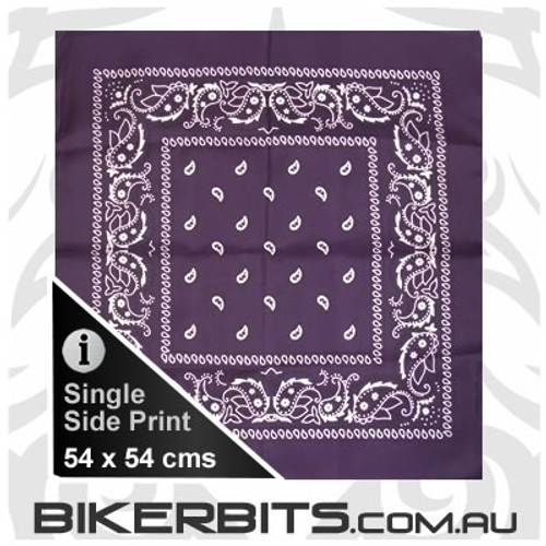 Headwear - Bandana - Deep Purple Paisley