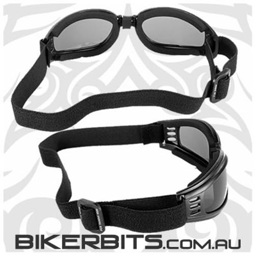 Motorcycle Goggles - Kickstart Nomad - Smoke/Black