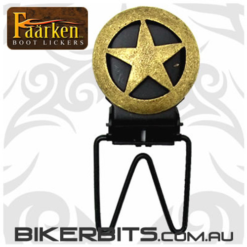 Faarken Biker Boot Lickers - Ranger Star - Bronze