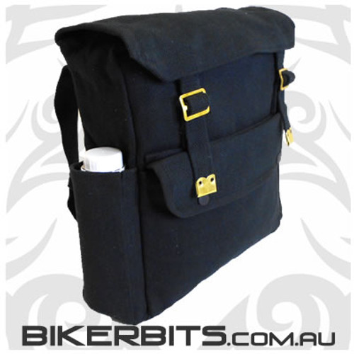 Classic Backpack with Pockets - Black