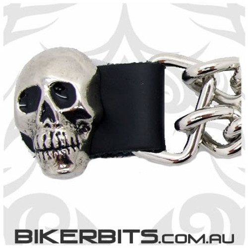 Vest Extender with Chains 4 inch - Skull