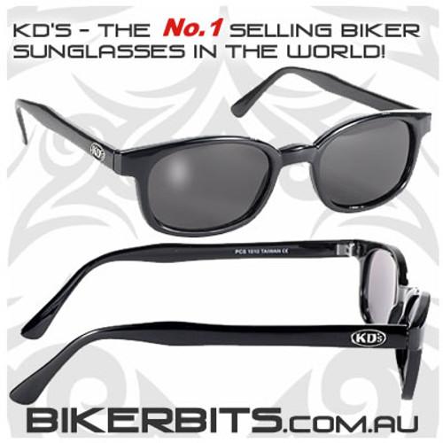 Motorcycle Sunglasses - X KD's Black - Smoke