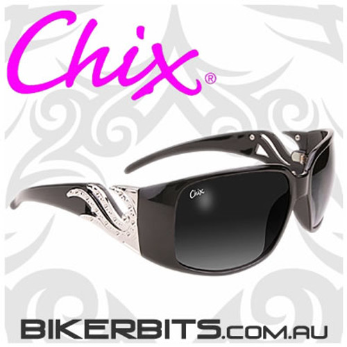 Motorcycle Sunglasses - Chix Windsong - Smoke Fade/Black