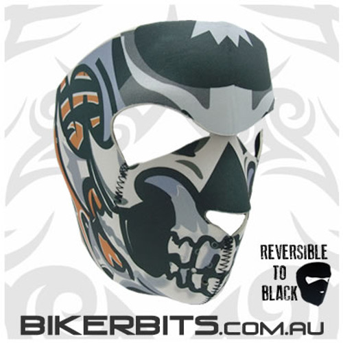 Headwear - Neoprene Full Face Mask - Tribal Skull