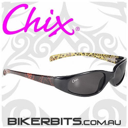 Motorcycle Sunglasses - Chix Heavenly - Man Eater- Smoke/Black L