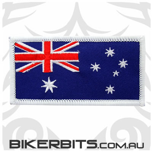 Patch - Australian Flag - White Border - Wide