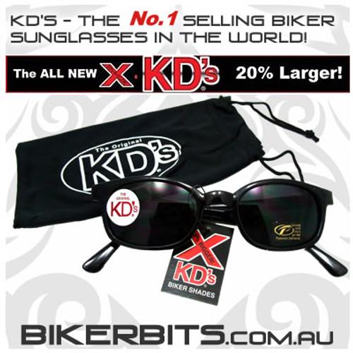 Motorcycle Sunglasses - X KD's - Dark Grey