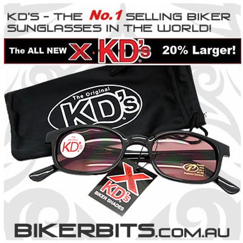 Motorcycle Sunglasses - X KD's Black - Rose