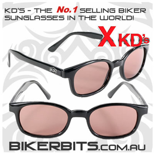 Motorcycle Sunglasses - X KD's Black - Rose