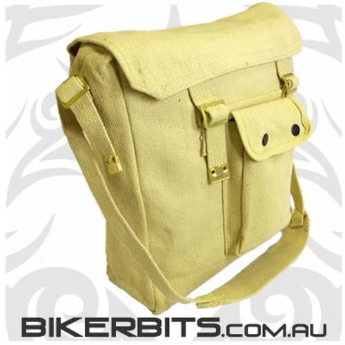 Messenger Bag with Front Pocket - Khaki
