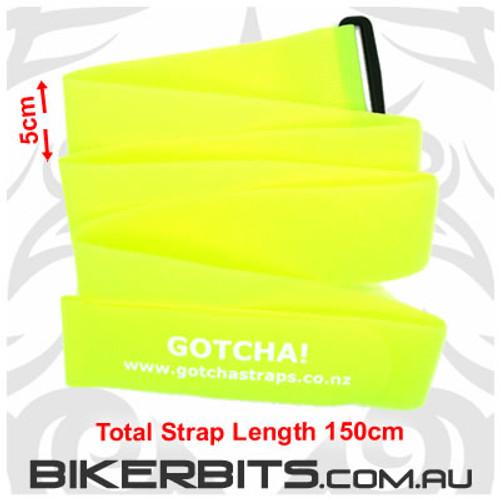 Gotcha Straps - 5cm wide x 1.5 metres long - 2 Pack - Yellow