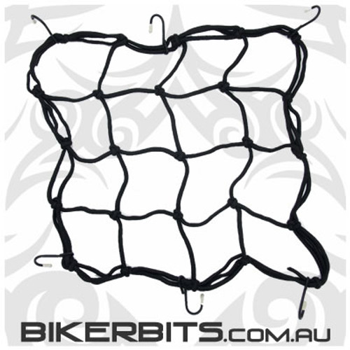 Tie Downs - Motorcycle Cargo Net - Black