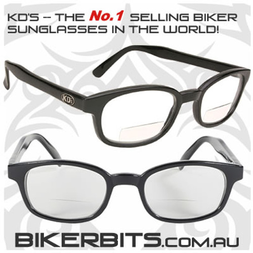 Motorcycle Sunglasses - KD's Readerz - Clear - 2.50