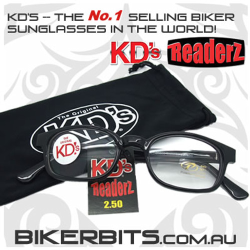 Motorcycle Sunglasses - KD's Bi-Focal Readerz - Clear - 2.50
