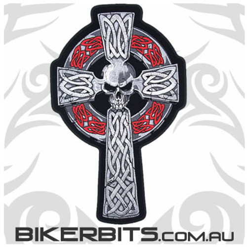 Patch - Celtic Cross with Skull - Large