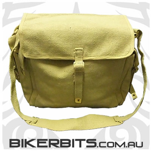 Messenger Bag with Bottle Holders - Khaki