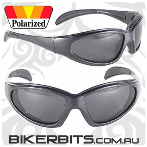 Motorcycle Sunglasses - Chopper - Polarized Grey