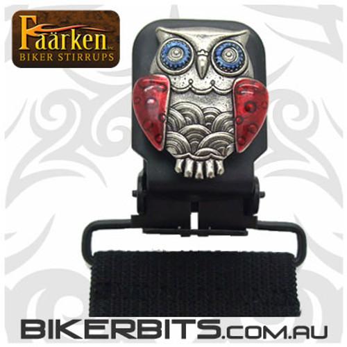 Faarken Biker Stirrups - Owl