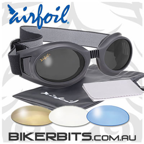 Motorcycle Sunglasses/Goggles - Airfoils - 7600 - 4 Lenses
