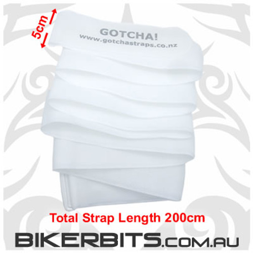 Gotcha Straps - 5cm wide x 2 metre long - 6 Pack - White - NB