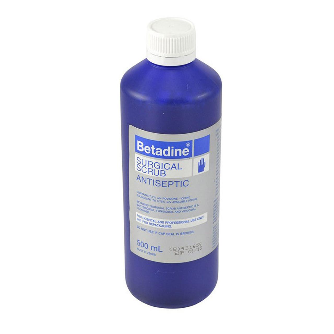Betadine Povidone Iodine Surgical Scrub 500ml