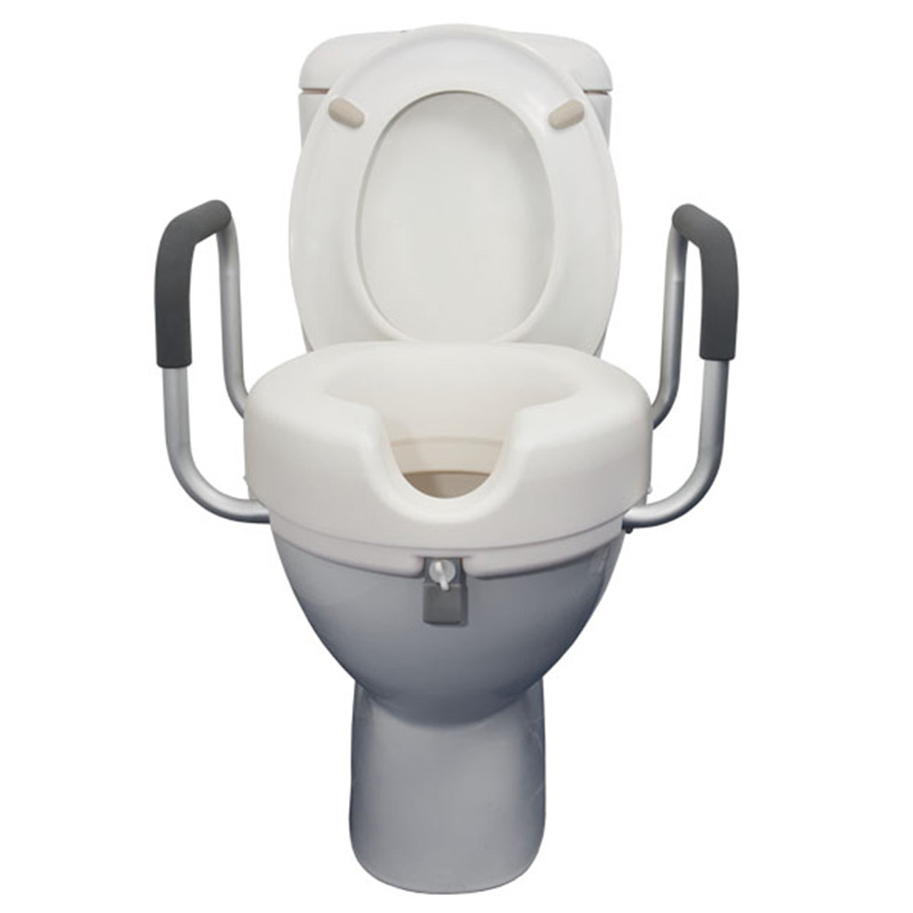 Astounding Raised Toilet Seat With Armrests Gmtry Best Dining Table And Chair Ideas Images Gmtryco