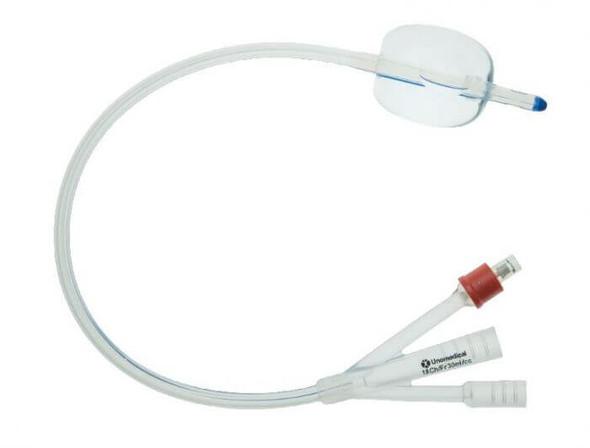 Unomedical Foley Catheter 3 Way Unisex Silicone