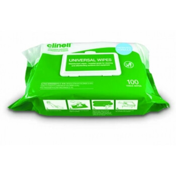 Clinell Universal Sanitising Wipes - 100 per pack